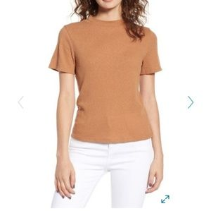 NWT Nordstrom BP Relaxed Mock Neck Top